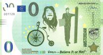 0 Euro biljet Amsterdam geloof het of niet believe it or no