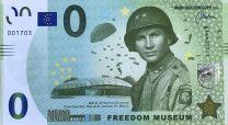 0 Euro biljet Freedom Museum