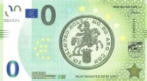 0 Euro biljet Muntmanifestatie 2021
