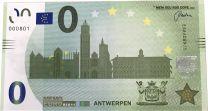 0 Euro biljet Stad Antwerpen