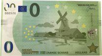0 euro biljet Zaanse Schans