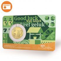 10 Eurocent Nederland Geluksdubbeltje 2021 in coincard 1