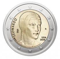 2 Euro Italie 2019 Leonardo Davinci