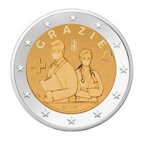 2 Euro Italie 2021 Grazie Gezondheid bedankt