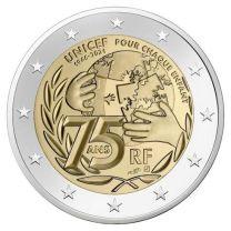 Frankrijk 2 Euro 2021 Unicef