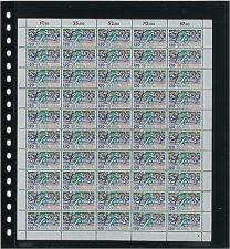 Lindner 020 Omnia hele vellen blad zwart 10x