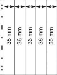 Lindner 065 UNIPLATE zwart 5x