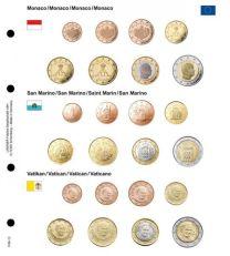 Lindner 1108-13 Voordrukblad Monaco, San Marino en Vatikaan + K8 muntblad