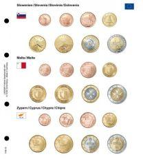 Lindner 1108-16 Voordrukblad Slovenie, Malta en Cyprus + K8 muntblad