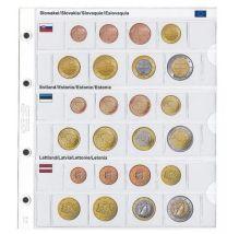 Lindner 1108-19 Voordrukblad Slowakije, Estland en Letland + K8 muntblad