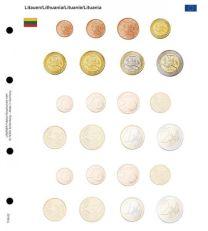Lindner 1108-22 Voordrukblad Litouwen + K8 muntblad