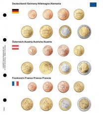Lindner 1108-2 Voordrukblad Duitsland, Oostenrijk en Frankrijk + K8 muntblad