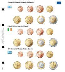 Lindner 1108-3 Voordrukblad Finland, Ierland en Griekenland + K8 muntblad