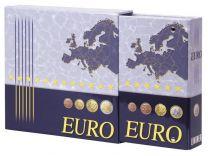 Lindner 1108E voordrukalbum voor series euromunten met cassette