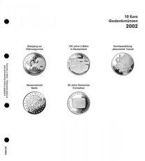 Lindner 1108 D02 Voordrukblad 10 Euro munten Duitsland 2002 incl. K2 blad