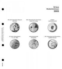 Lindner 1108 D03 Voordrukblad 10 Euro munten Duitsland 2003 incl. K2 blad
