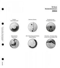 Lindner 1108 D04 Voordrukblad 10 Euro munten Duitsland 2004 incl. K2 blad