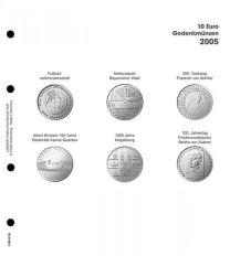 Lindner 1108 D05 Voordrukblad 10 Euro munten Duitsland 2005 incl. K2 blad