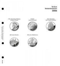 Lindner 1108 D06 Voordrukblad 10 Euro munten Duitsland 2006 incl. K2 blad