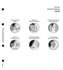 Lindner 1108 D09 Voordrukblad 10 Euro munten Duitsland 2009 incl. K2 blad