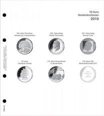 Lindner 1108 D10 Voordrukblad 10 Euro munten Duitsland 2010 incl. K2 blad