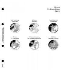 Lindner 1108 D11 Voordrukblad 10 Euro munten Duitsland 2011 incl. K2 blad