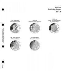 Lindner 1108 D12 Voordrukblad 10 Euro munten Duitsland 2012 incl. K2 blad