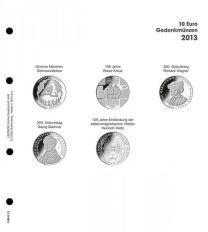 Lindner 1108 D13 Voordrukblad 10 Euro munten Duitsland 2013 incl. K2 blad
