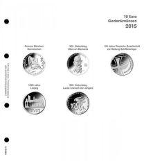 Lindner 1108 D15 Voordrukblad 10 Euro munten Duitsland 2015 incl. K2 blad