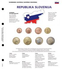 Lindner 1109-16 Voordrukblad Slovenie + K8 muntblad