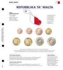Lindner 1109-17 Voordrukblad Malta + K8 muntblad
