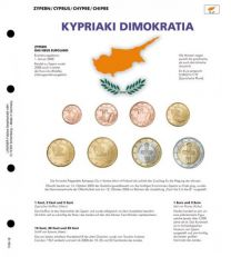 Lindner 1109-18 Voordrukblad Cyprus + K8 muntblad