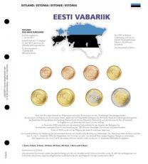 Lindner 1109-20 Voordrukblad Estland K8 muntblad
