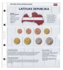 Lindner 1109-21 Voordrukblad Letland + K8 muntblad
