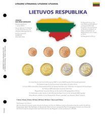 Lindner 1109-22 Voordrukblad Litouwen + K8 muntblad