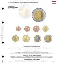 Lindner 1109-50 Voordrukblad Troonwissel Nederland + K8 muntblad