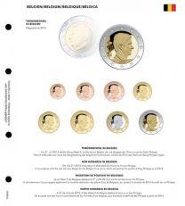Lindner 1109-51 Voordrukblad Troonwissel Belgie + K8 muntblad