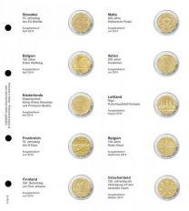 Lindner 1118-13 Voordrukblad Slowakije 2014 - Griekenland 2014 + K3 muntblad