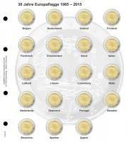 Lindner 1118-15 Voordrukblad 30 jaar Europese vlag + K3 muntblad