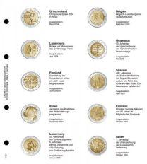 Lindner 1118-1 Voordrukblad Griekenland 2004 - Italie 2005 + K3 muntblad