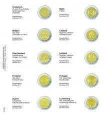 Lindner 1118-22 Voordrukblad Frankrijk 2017 - Luxemburg 2017 + K3 muntblad