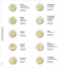Lindner 1118-25 Voordrukblad Italie 2018 - Luxemburg 2018 + K3 muntblad