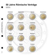 Lindner 1118-3 Voordrukblad Gemeenschappelijke uitgave Verdrag van Rome + K3 muntblad