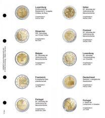 Lindner 1118-4 Voordrukblad Luxemburg 2008 - Portugal 2009 + K3 muntblad
