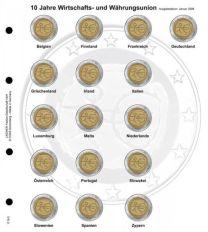 Lindner 1118-5 Voordrukblad Gemeenschappelijke uitgave 10 jaar WWU + K3 muntblad