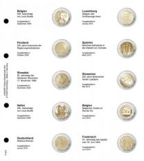 Lindner 1118-6 Voordrukblad Belgie 2009 - Frankrijk 2010 + K3 muntblad