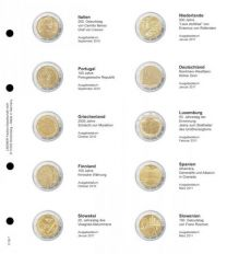 Lindner 1118-7 Voordrukblad Italie 2010 - Slovenie 2011 + K3 muntblad