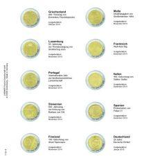 Lindner,1118-9,Voordrukblad,Griekenland,2014,Duitsland,2015,K3,muntblad