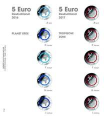 Lindner 1119-1 Voordrukblad 5 Euro verzamelmunten Duitsland 2016-2017 incl. K3 blad
