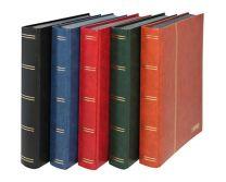 Lindner 1169S  insteekalbum groot formaat 60 blz. zwart, gewatteerde blauwe band